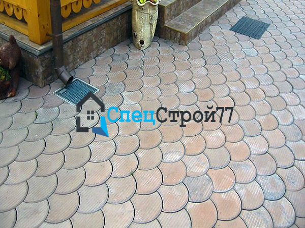 Тротуарная плитка чешуя цена