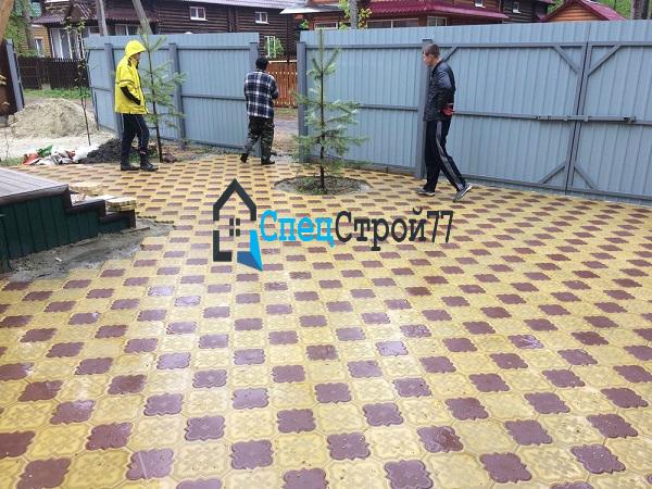 Тротуарная плитка гжелка цена в СПб